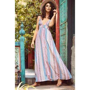 Lulu's | Maxin' Relaxin' Multi Print Maxi Dress